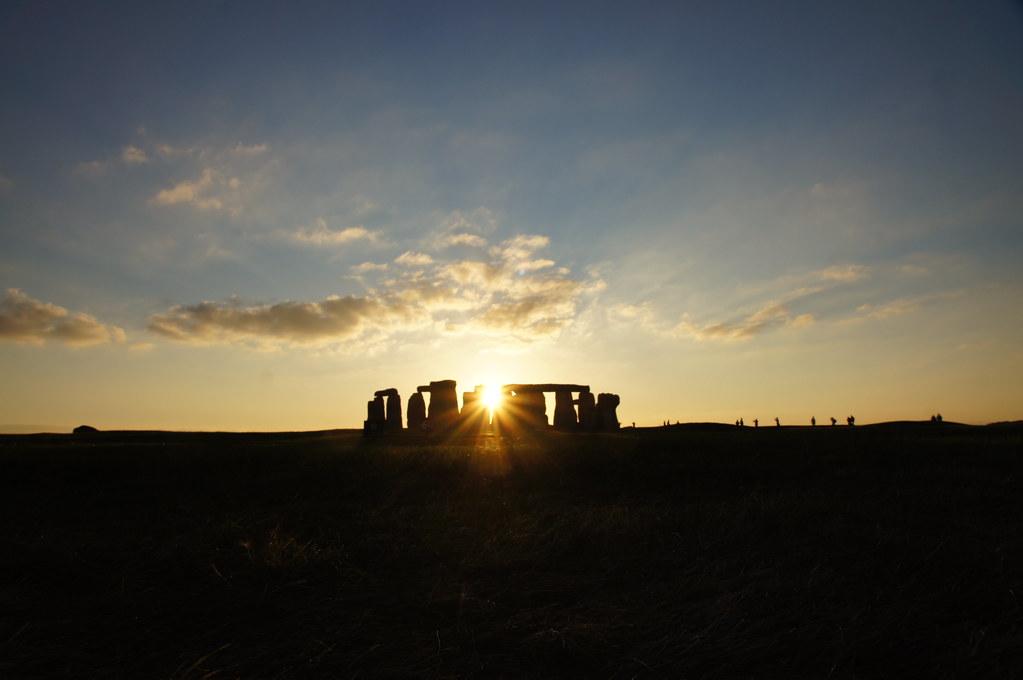 Stonehedge zum Sonnenuntergang